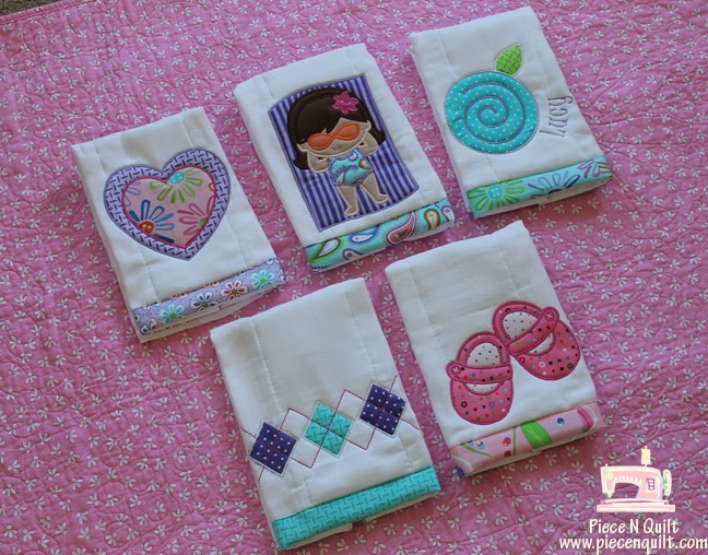 Piece N Quilt Baby Girl Burp Cloths