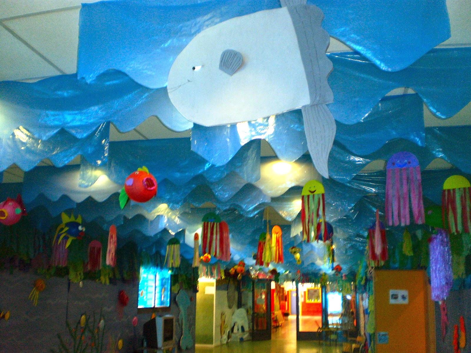 Biblioteca ceip la senda fant stico mundo marino for El mundo decoracion