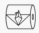 """Оригами """"Птица"""" из туалетной бумаги"""