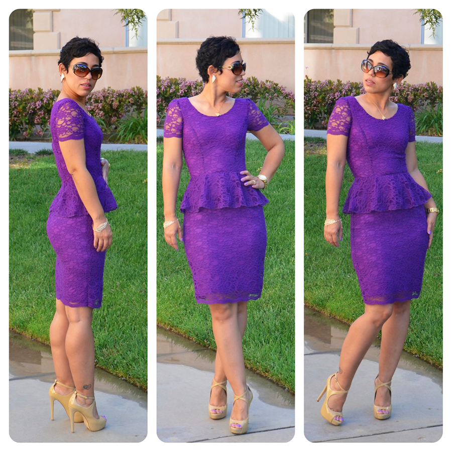 DIY Lace Peplum Dress   Pattern & Fabric Giveaway   Review ...