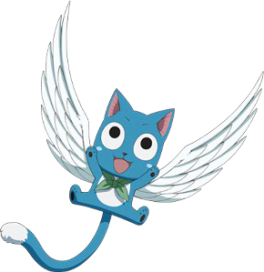 All About Fairy Tail: Happy the Blue Winged Cat