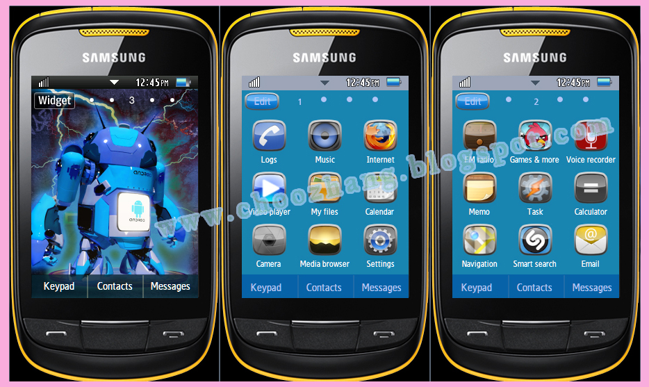 Samsung Corby 2 or S3850 - Roundroid Theme