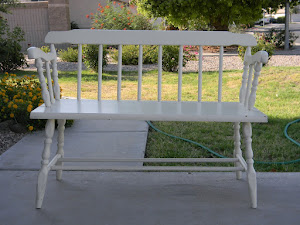 White Shabby Chic Bench  *SOLD*