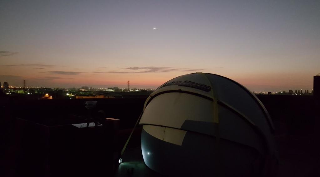 修平太陽觀測站新月美景
