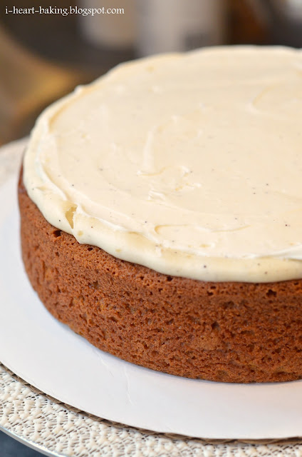 ... cake - pumpkin spice layer cake with browned butter cream cheese