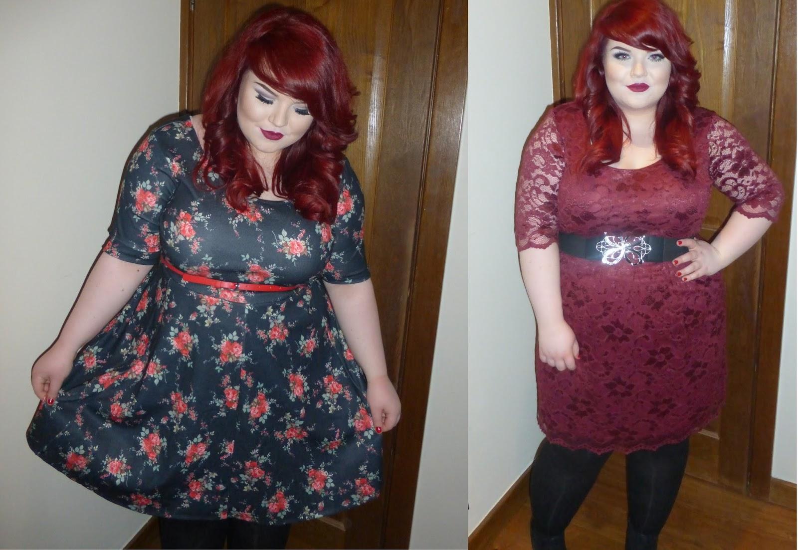 boohoo plus size dresses Ashley Lace Skater Dress and ella floral belted skater dress