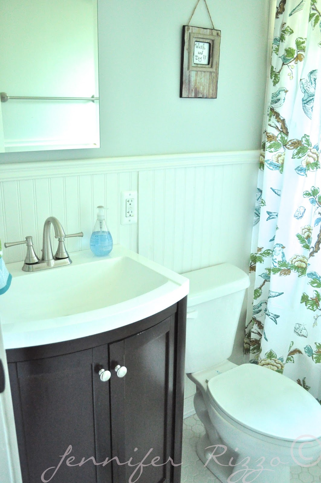 The Oak House Project Full Bathroom Renovation With Beadboard Wainscotting