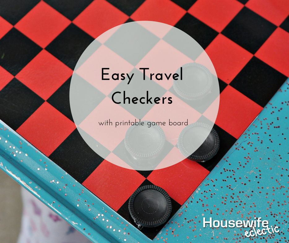 picture about Printable Checkers Board named Simple Drive Checkers with Printable Activity Board - Housewife