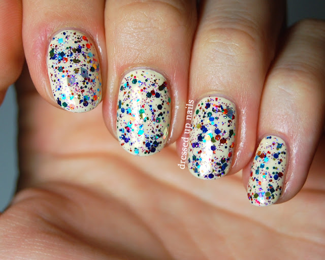 Dressed Up Nails - Delush Polish Pinata Confetti swatch