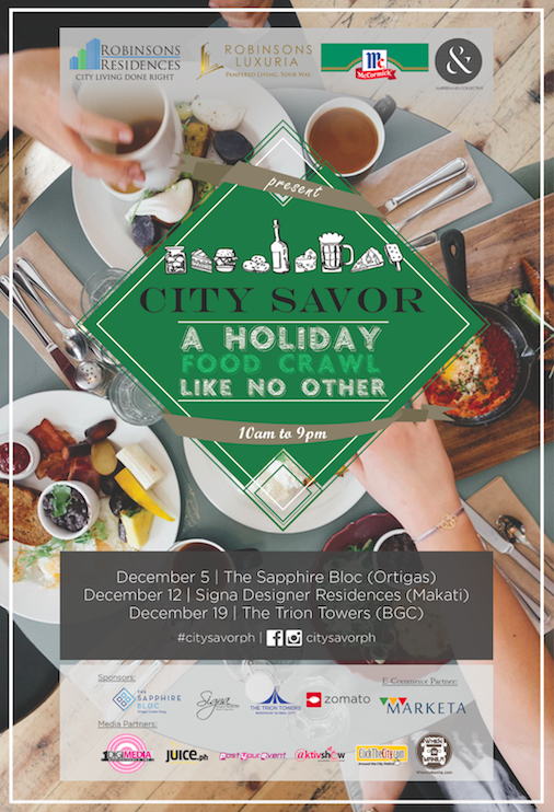 Experience a Holiday Food Crawl Like No Other With City Savor on December 5, 12, and 19