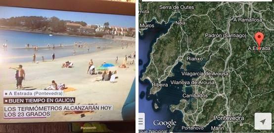 La Sexta atribuye una playa de Sanxenxo a un municipio interior