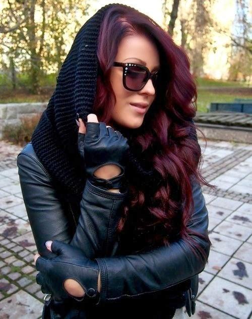 Pretty Wine Red Hair Color Mania