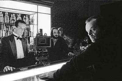 Stanley Kubrick y Jack Nicholson en El Resplando