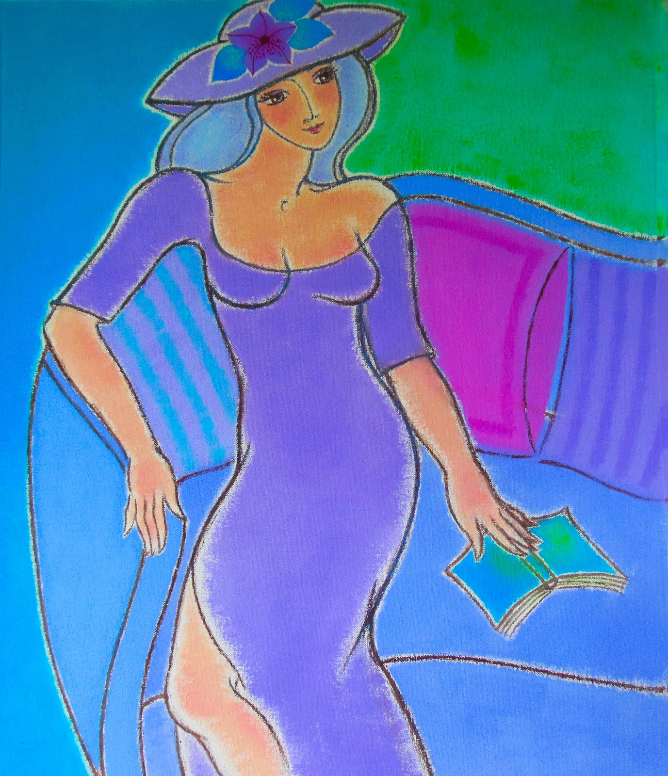 Figure in Blue Violet
