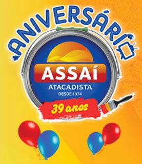 como eu faço para participar da promoção de aniversário Assaí Atacadista 2013 39 anos?