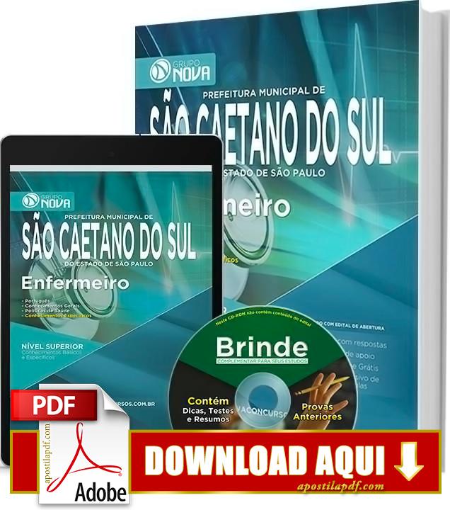 Apostila Prefeitura de São Caetano do Sul 2015 Enfermeiro PDF Download Grátis