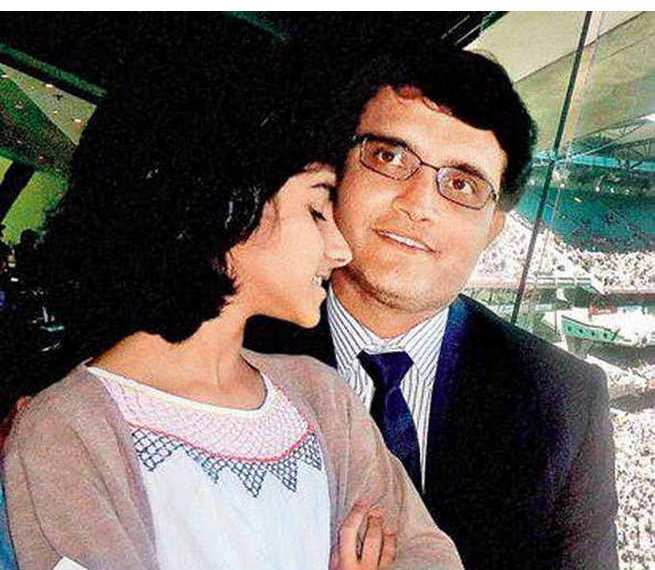 Sana Ganguly childhood picture with her father Saurav Ganguly