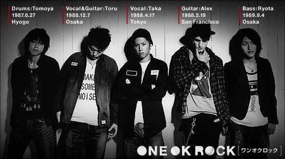 One Ok Rock personels