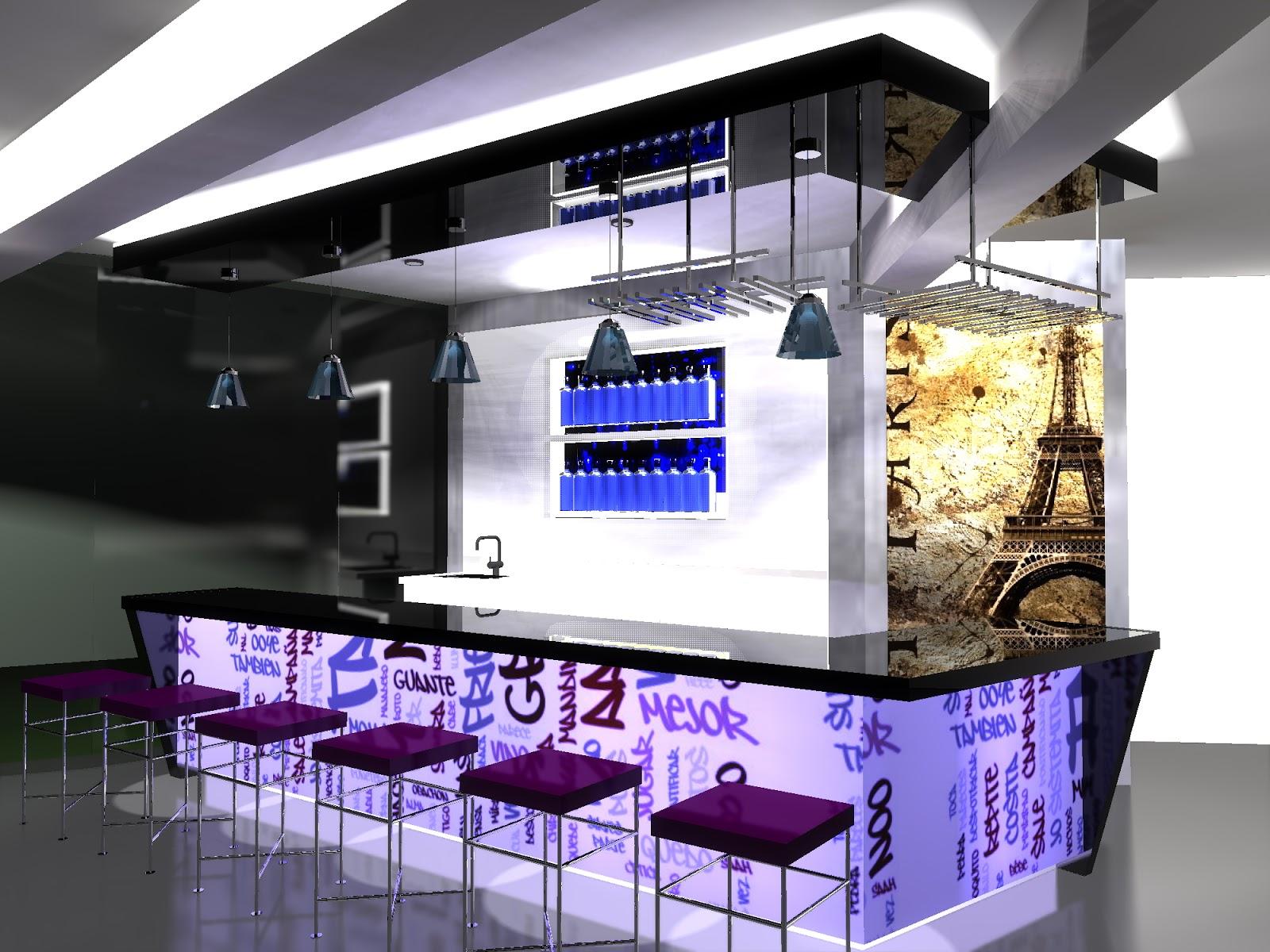 Muebles dise os y proyectos - Disenos de barras de bar ...
