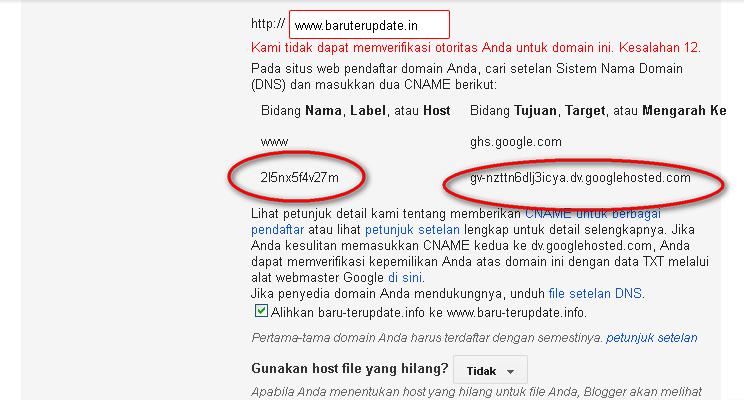 Cara Custom Domain Blogspot Terbaru 5