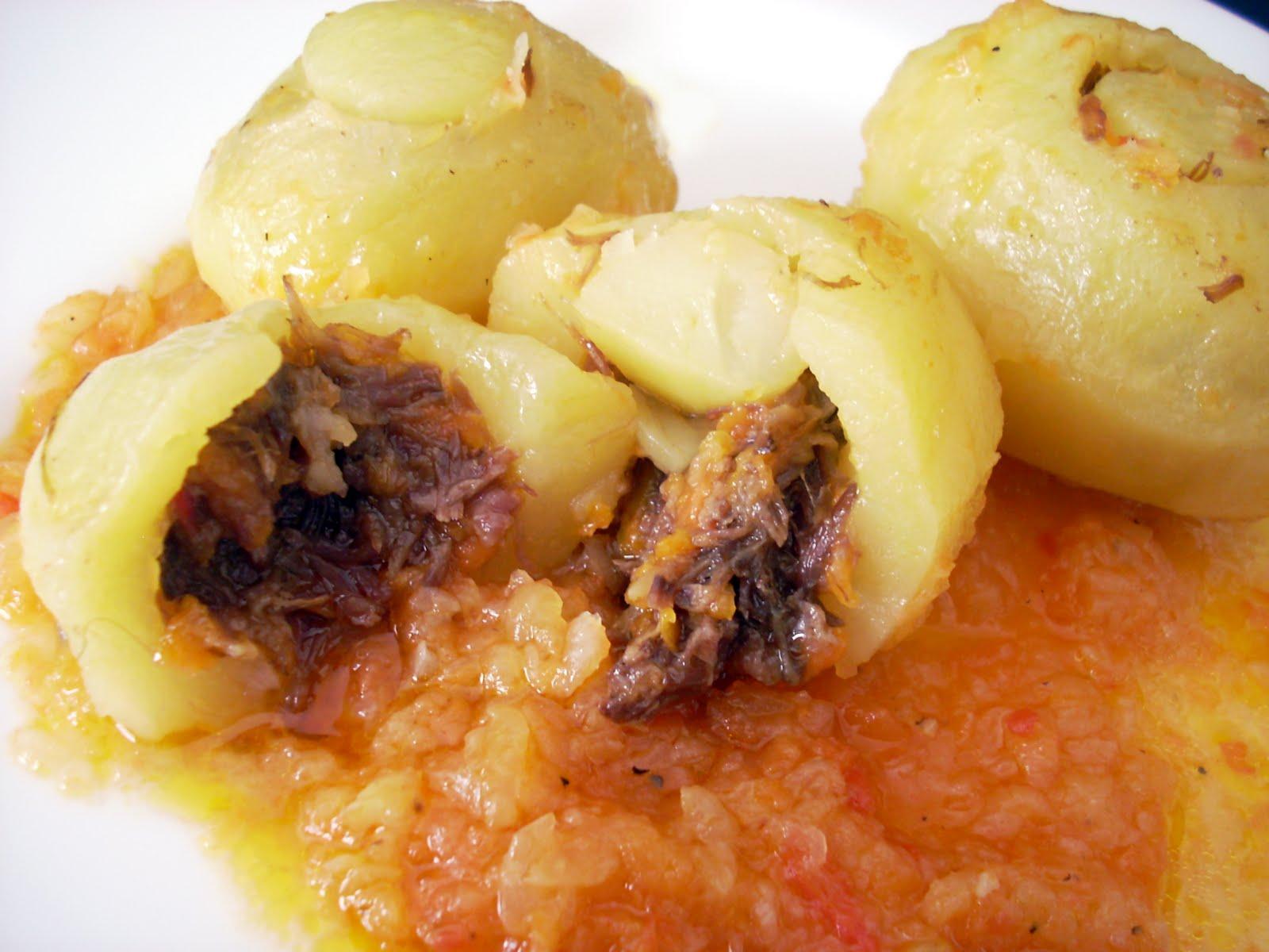 Patatas rellenas de rabo de buey en olla r pida recetines asgaya - Patatas en olla rapida ...