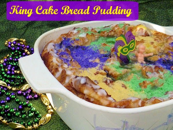 King Cake Bread Pudding | Ms. enPlace