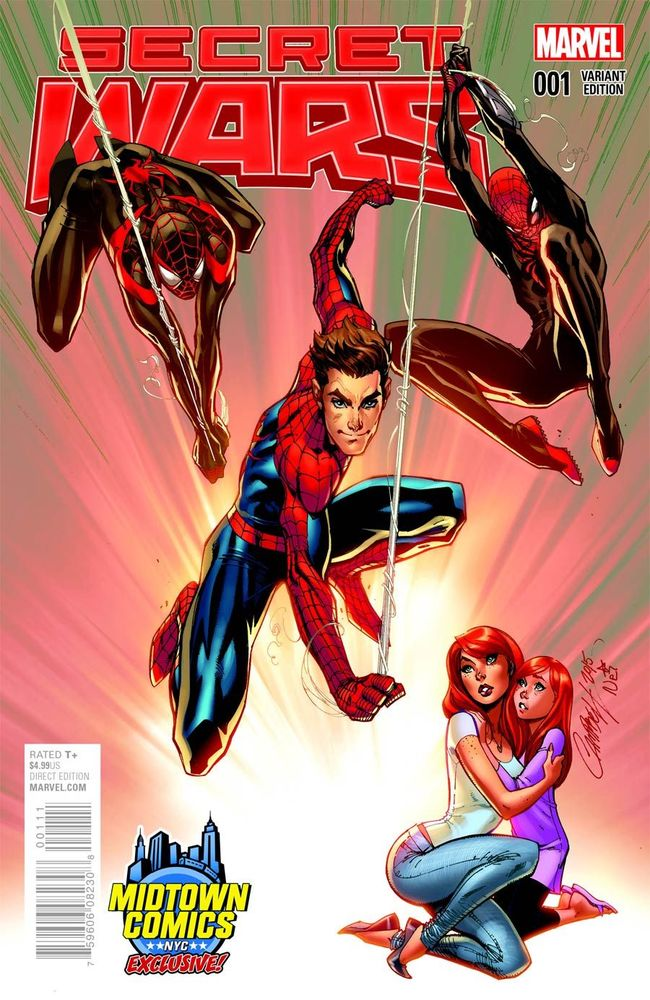 SECRET WARS #1 MIDTOWN EXC J SCOTT CAMPBELL