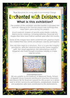 North East artist Ingrid Sylvestre Enchanted with Existence exhibition University of Durham Botanic Gardens Associate Artist for New Storylines for Living with Environmental Change Institute of Advanced Studies Durham University