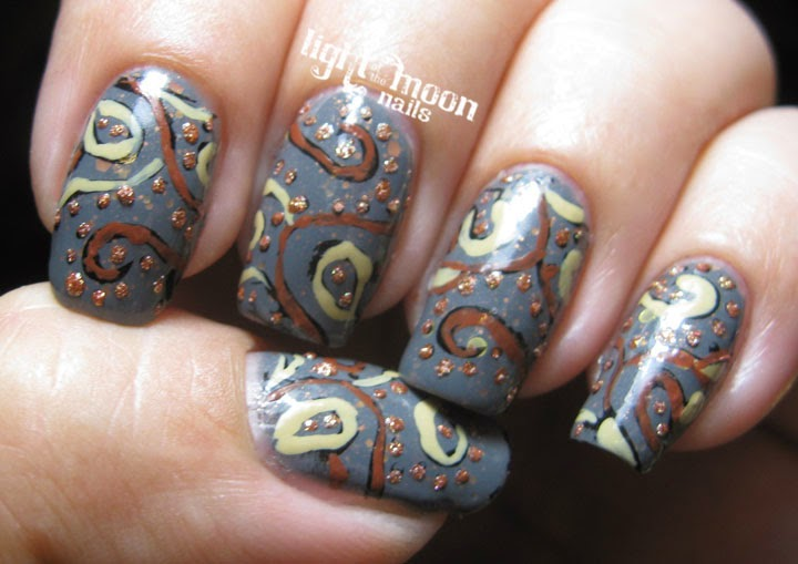 Light Of The Moon Nails Retro Nail Art For Finger Foods Theme Buffet