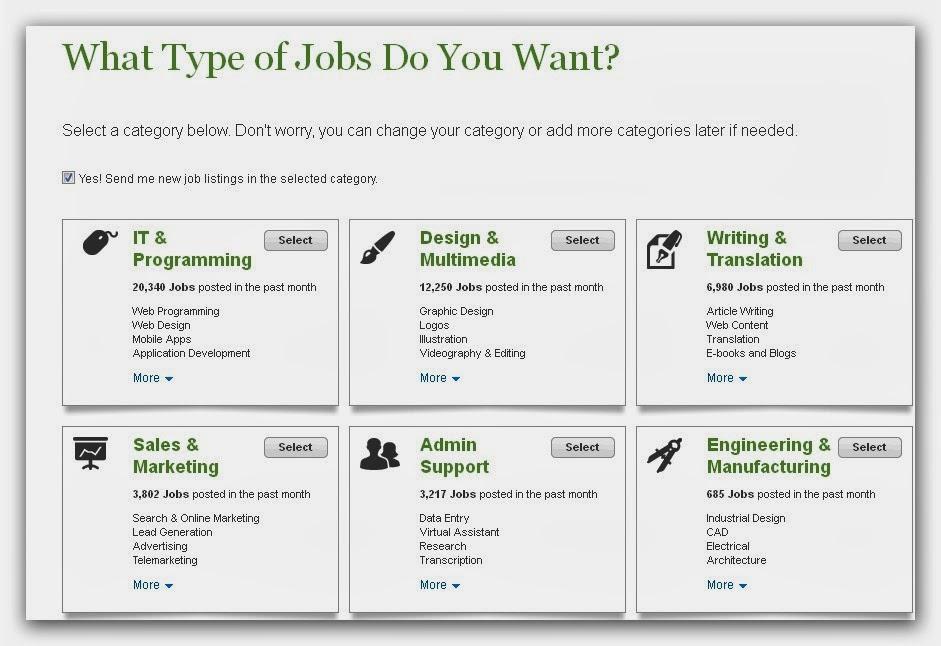 اختيار المهارات وعمل البروفيل في موقع إيلانس (Elance)