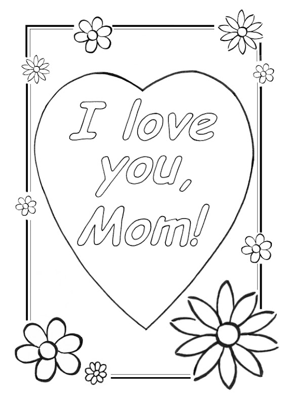 Love You Mom Coloring Page title=