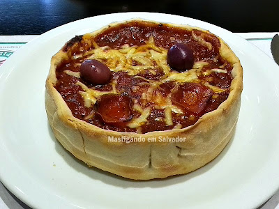 Chicago Stuffed Pizza: Stuffed Pizza individual no sabor Pepperoni