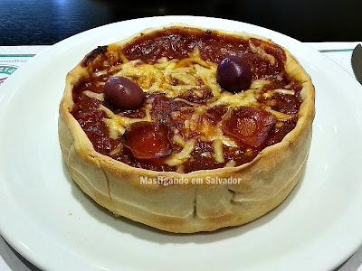 Chicago Stuffed Pizza: Stuffed Pizza individual no sabor Pepperoni