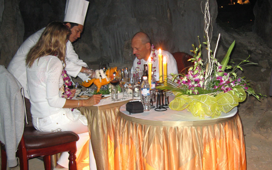 Romantic Dinner in Cave - White Dolphin Cruise