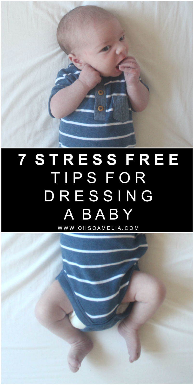 Baby on the way? Here are 7 stress free tips for dressing a baby! Check out these top tips on how to dress your new bundle of joy without getting in a panic.