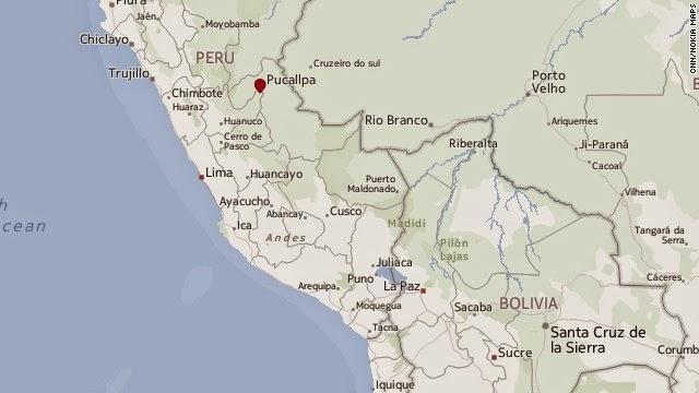 Epicentro terremoto peru, 24 de Agosto 2014