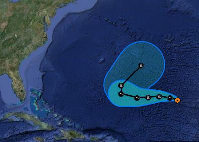 Philippe, Atlantik, Bermudas, Verlauf, Vorhersage Forecast Prognose, aktuell, Oktober, 2011, Hurrikansaison 2011,