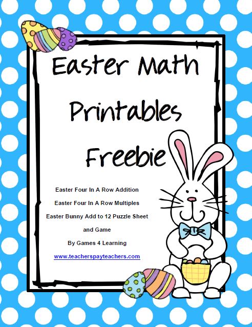 Easter Math Printables Freebie gives you 2 Easter math board games and ...