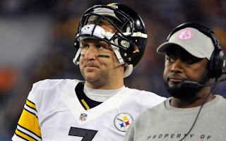 Ben Roethlisberger and Steelers head coach Mike Tomlin