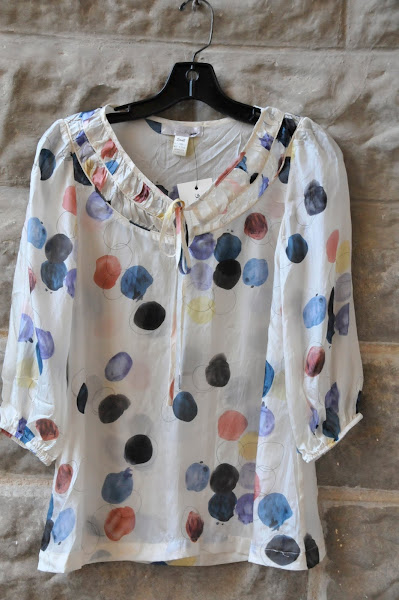 Silk dots blouse  $82