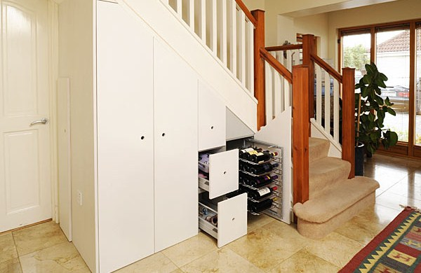 Custom cupboards under the stair for saving spaces hag for Understairs storage