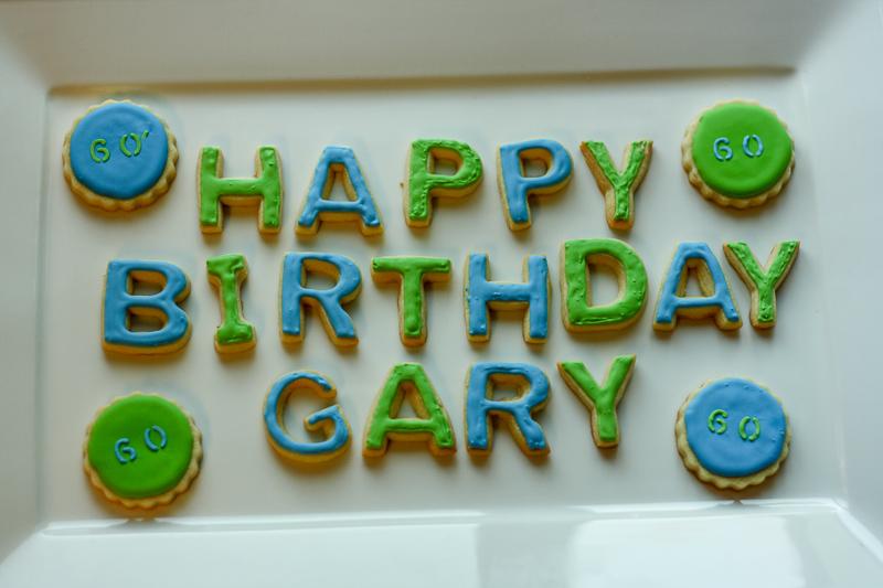Sugar cookies are his favorite Round Birthday Sugar Cookies