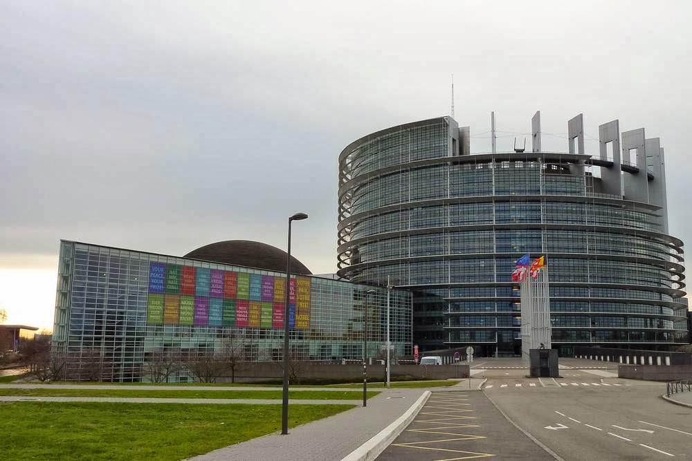 Europees Parlement in Straatsburg, Frankrijk