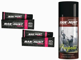 Loot Offer: Manhunt Shaving Cream 98gms Pack of 2 worth Rs.102 for Rs.31 Only | Manhunt Deodorant 150 Ml Pack of 3 for Rs.147 Only with Free Shipping