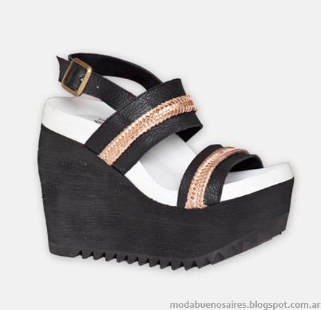Moda sandalias con plataforma verano 2015 Hoku Shoes.