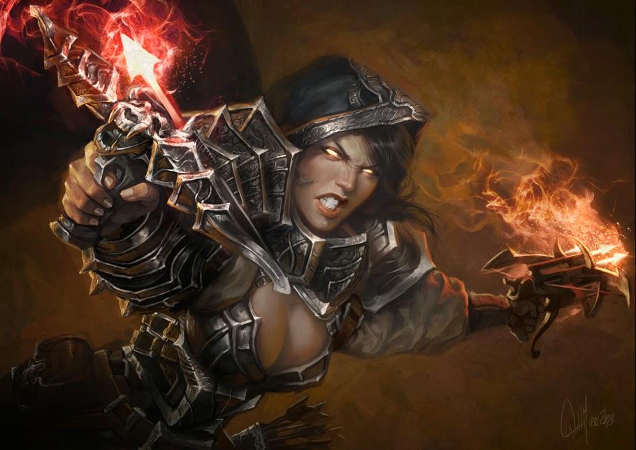 illustration de Will Murai représentant une chasseuse de démons de diablo 3