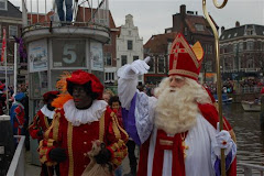 Ook I love Leiden was aan boord om Sinterklaas welkom te heten