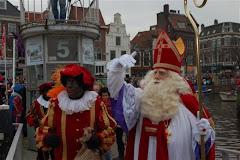 Ook I love Leiden was aan boord om Sinterklaas welkom te heten