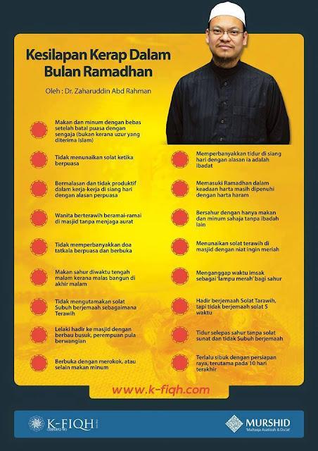 Kesilapan Dalam Bulan Ramadhan