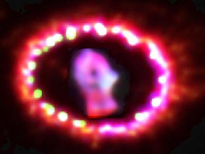 Supernova SN 1987A bright again